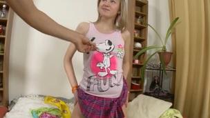tenåring blonde hottie hardcore anal