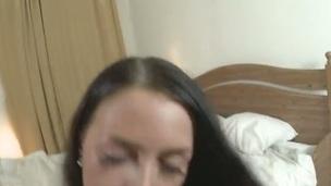 sucking brunette tenåring hardcore blowjob