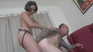 Wicked Mistress Fucking The Tattoo Artist's Tiny Dark Hole!
