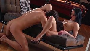 brunette sexy utrolig puling blowjob