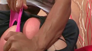 Slut gets jizz on her slutty face after wonderful anal sex